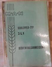 MAN Schlepper 2 L 1 Bedienungsanweisung