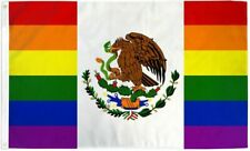 New listing Mexican Rainbow Gay Pride 3x5 ft Polyester Flag