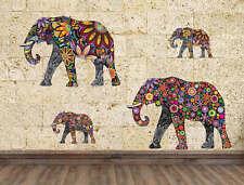 Elephant Flower pattern Wall Sticker Removable Art Vinyl Decal Room Home Decor