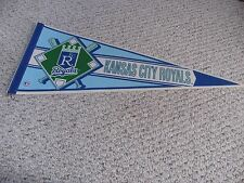 VINTAGE WINCRAFT KANSAS CITY ROYALS BASEBALL DIAMOND FULL SIZE PENNANT  MLB