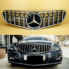2010-2013 Chrome + Shiny Black Front Grille Fit Mercedes Benz C207 W207 GT Style