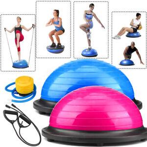 Home Gym Half Balance Ball Yoga Pilates Fitness Wobble Board Exercise W/ Pump UK