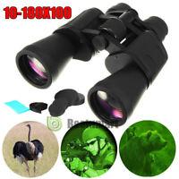 10-180 X 100 Binoculars With Night Version Waterproof Zoom Times Telescope+Case