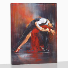 Tango Dancers Dancing XL Large Framed Box Canvas Print Picture Pedro Alvarez