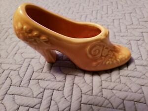 Vintage Pink pottery High Heel shoe Planter made in USA