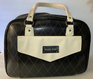 Mary Kay Large Tote-Overnight-Carry On-Consultant-Organizer-Black/Beige Bag NEW