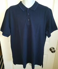 New with tags $98.00 Robert Graham Mens Classic SS Clock Tower Polo Navy Size XL