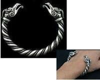 Raven Heads Bracelet Crow Viking Accessories Stainless Steel Men Cuff Bangle