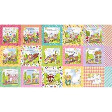 "Loralie PRECIOUS EXPRESS Book Panel Quilt Fabric 23"" x 44""  #692-178"