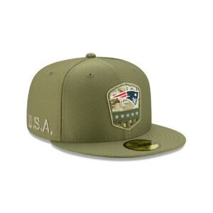 NEW ENGLAND PATRIOTS NFL NEW ERA 59FIFTY SALUTE TO SERVICE FITTED HAT 7 3/8