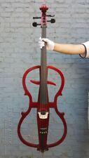 4/4 Cello Black Electric Cello Full Size Sweet Sound Cello Bag Bow Yinfente