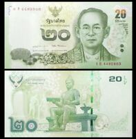 THAILAND 20 Baht, 2016, P-118, UNC World Currency