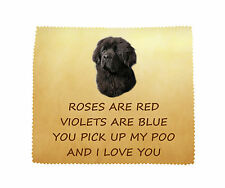Newfoundland I LOVE YOU Microfibre Cleaning Cloth Fun Gift FROM THE DOG