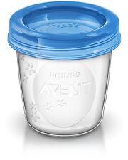 Philips Avent Aufbewahrungssystem für Muttermilch 10x180ml Becher mit Deckel NEU