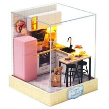 DIY Doll House Kitchen Small Home Dollhouse Toys Miniature Kids Christmas Gift