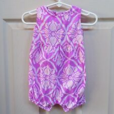 Carters baby girl 9 month one-piece summer pink print romper
