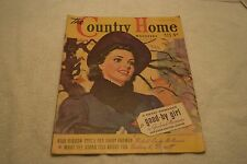 Vintage The Country Home Magazine, November 1938, Great Graphics!