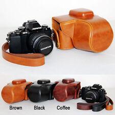Leather Camera case bag Cover For Olympus OM-D E-M10 Mark II EM10 III 2 3