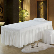 SPA Massage Table Skirt with Face Breath Hole for Beauty Salon Facial Bed