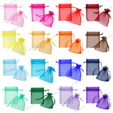 10 x Premium Organza Favour Bags Wedding Party XMAS Gift Candy Jewellery Pouch