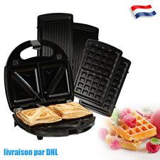 Appareil à croque monsieur 3en1 Gaufrier multifonction Grill électrique pratique