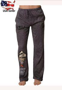 New Ed Hardy Men's Soft Knit Sleep Lounge Pajama Pant Vintage Tattoo Size Large