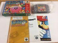 Kirby 64: The Crystal Shards (Nintendo 64, 2000) Box Manual Complete CIB N64