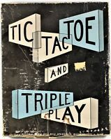 Tic Tac Toe and Triple Play National Games Inc. Vintage