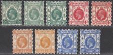 Hong Kong 1912 King George V Part Set to 10c Mint