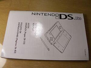 DS LITE Manual  Replacement Part Nintendo original  instructions !