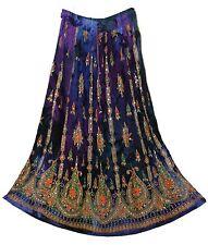 Dbl Bohemian Indian Hippy Belly Dance Skirt Falda Rock Boho Women Ehs Jupe Gypsy