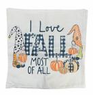 Fall Pumpkin Pillow Cover Halloween Gnome Plaid I Love Fall Home Decor New
