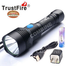 Trustfire 4000 Lumens CREE XM-L2 LED 3 Mode USB Rechargeable Flashlight Torch