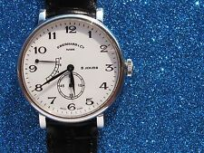 EBERHARD&CO 8 JOURS GRAND TAILLE REF.21027 REMONTAGE MANUAL RESEVE POWER 41MM