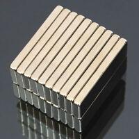 20PCS 30X10X3MM N50 Ndfeb Stark Seltene Erden Leiste Block Neodym-Magnete Gut
