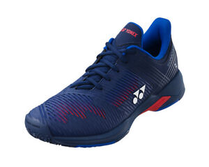 Yonex Power Cushion SONICAGE 2 Wide Tennis Shoes Unisex Navy Red All Court