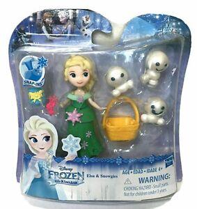 Disney Frozen Little Kingdom Elsa & Snowgies Snap In Figure