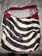 Dooney Bourke Zebra Print Large Shoulder Bag