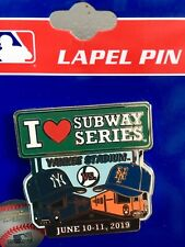 NY YANKEES NY METS SUBWAY SERIES PIN 2019 I ❤️ MLB BASEBALL HAT TRAIN