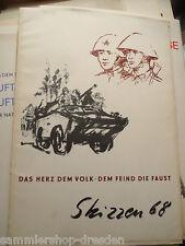 23047 Skizzen 68 Gerhard Thieme Hans Räde Eickworth Mappe 10 Plakate NVA
