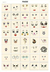 FACES. CD or USB machine embroidery designs files most formats pes hus jef etc