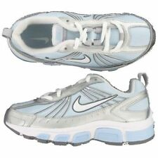 Retro  Sneakers Nike Tie Sneakers T-Run ALT 4  Silver/Blue NEW Childs  Size 8
