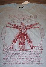 THE AMAZING SPIDER-MAN Da Vinci Sketch Marvel Comics T-Shirt 2XL XXL NEW w/ TAG
