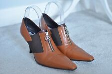 RUSSELL & BROMLEY Donald J Pliner brown pointed zip shoe boots UK 6.5