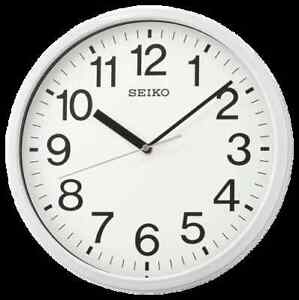"*BRAND NEW* Seiko 12"" Office White Wall Clock QXA756WLH"