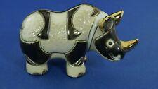 De Rosa Sculpture in Ceramic Rinconada Rhinocerous 749