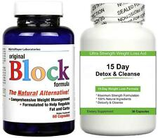 FAT BLOCKER DETOX COLON CLEANSE DIET PILLS WEIGHT LOSS CLEANSER SLIMMING TABLETS