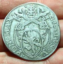 pci5741) Roma. SISTO V, Peretti, 1585-1590, TESTONE S.D. Muntoni 19 AG Raro