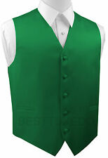 Men's Green Satin Tuxedo Vest. Formal, Wedding, Prom, Dress, Cruise