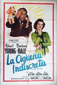 And Baby Makes Three 1949 Robert Young, Barbara Hale Original Spanish/US Poster